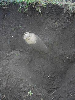 Під час проведення земляних робіт виявлено 5 вибухонебезпечних предметів