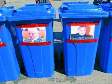 Активісти обіцяють Ничипоренку смітникову люстрацію, якщо той не зніметься з виборів