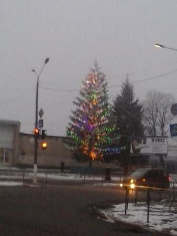 На Жашківщині запалала новорічна ялинка