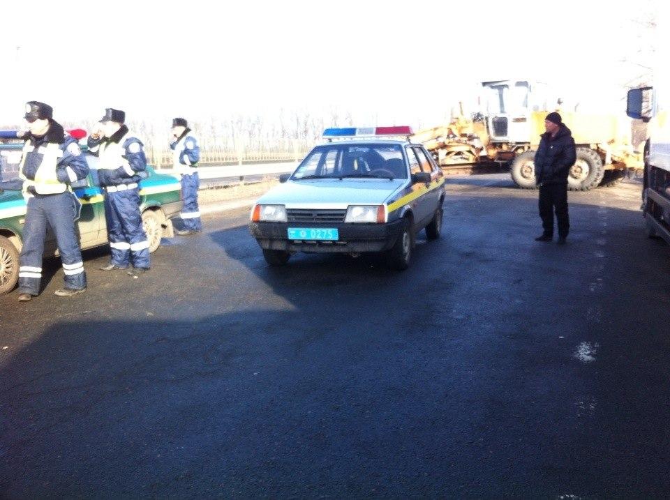 На 147 км ДАІ перекривають трасу Київ—Одеса #Євромайдан (оновлено)